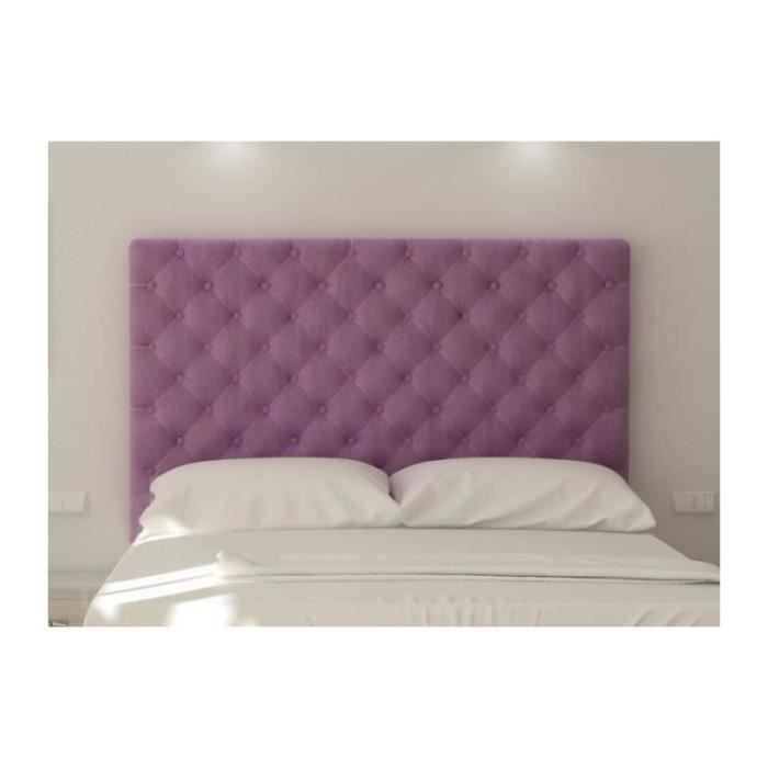 t te de lit capitonn e 180 cm tissu violet achat vente t te de lit t te de lit capitonn e. Black Bedroom Furniture Sets. Home Design Ideas