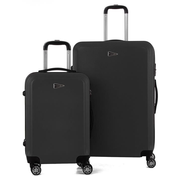 SET DE VALISES TRAVEL WORLD Ensemble de 2 Valises 55/75cm Gris An
