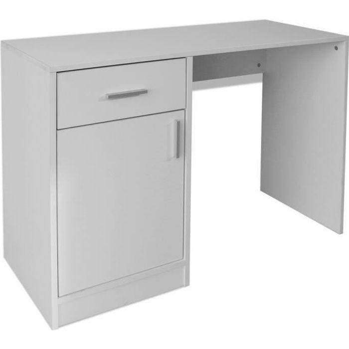 BUREAU  vidaXL Bureau avec tiroir et placard 100x40x73 cm