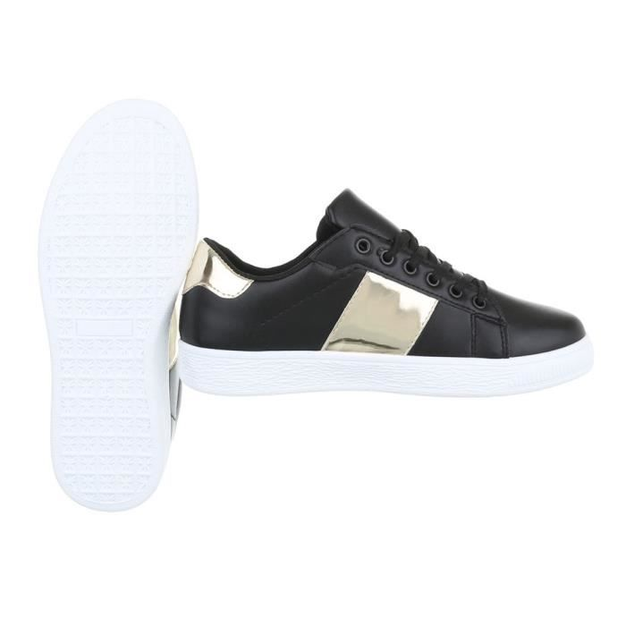 Chaussures femme chaussures sportSneakers Chaussures de sport noir or 40