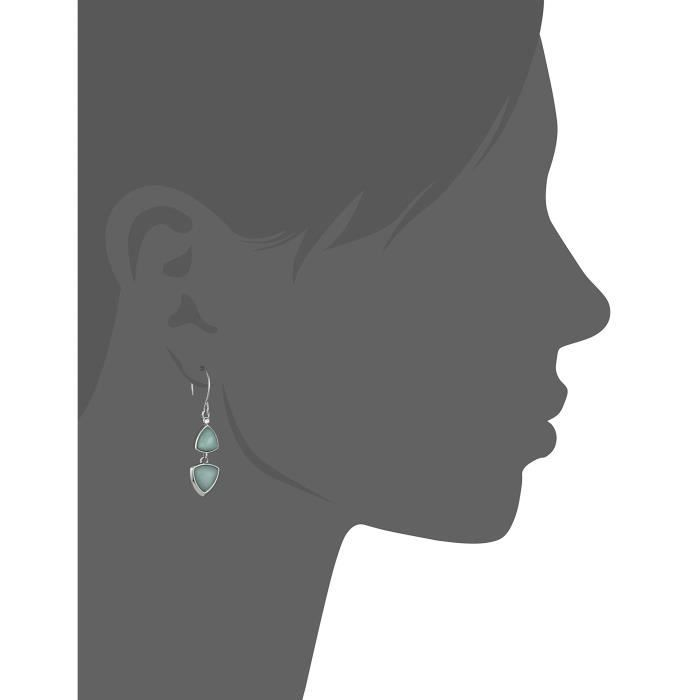 Geo Facets Drop Earrings X2KWM