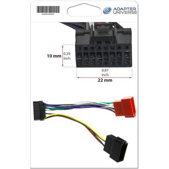 Adapter-Universe/® Panasonic C/âble Adaptateur DIN ISO pour autoradio