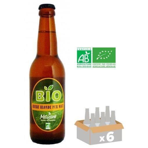 BIÈRE MELUSINE Bière Blonde BIO - 33 cl x6 - 5 %