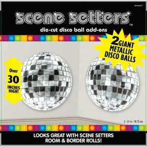 200mm Argent Brillant Disco Party Club Balle Miroir DJ NOUVEAU