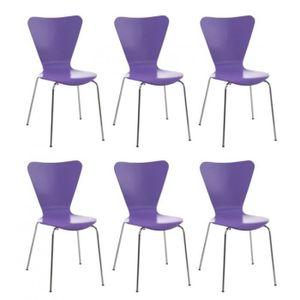 CHAISE DE BUREAU Lot de 6 chaises de séjour bureau en bois violet e