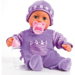 POUPON Poupon Bébé souple-Bayer Design Lila(Premiers Mots