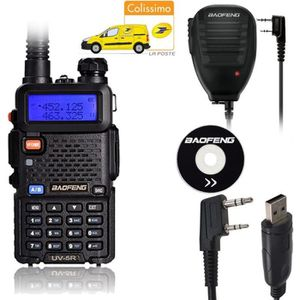 TALKIE-WALKIE Baofeng UV-5R Black Noir Talkie Walkie FM Radio +