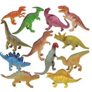 FIGURINE - PERSONNAGE  1Pc jouet en plastique forme dinosaure animal fig