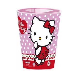 Verre à eau - Soda Gobelet Hello Kitty, verre plastique enfant