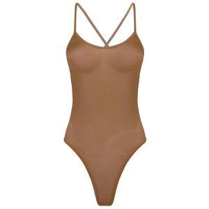 Body beige ecru transparent Stringbody Femmes Lingerie Sous-Vêtements 34 36 38 40
