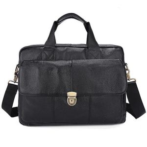 ATTACHÉ-CASE 100% Cuir Véritable Hommes Sacs Messenger Porte-do