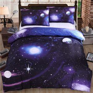 HOUSSE DE COUETTE SEULE Ciel Galaxie Cosmos modèle Reine Taille Ensemble d