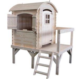 MAISONNETTE EXTÉRIEURE Cabane en bois pour enfant  ROSE