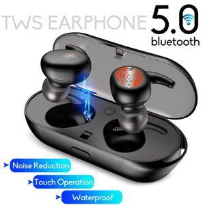 CASQUE AVEC MICROPHONE TEMPSA Écouteurs bluetooth 5.0 TWS Casques Oreille