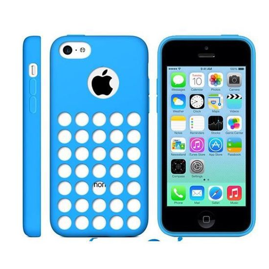 coque iphone 5c housse silicone trou pour logo