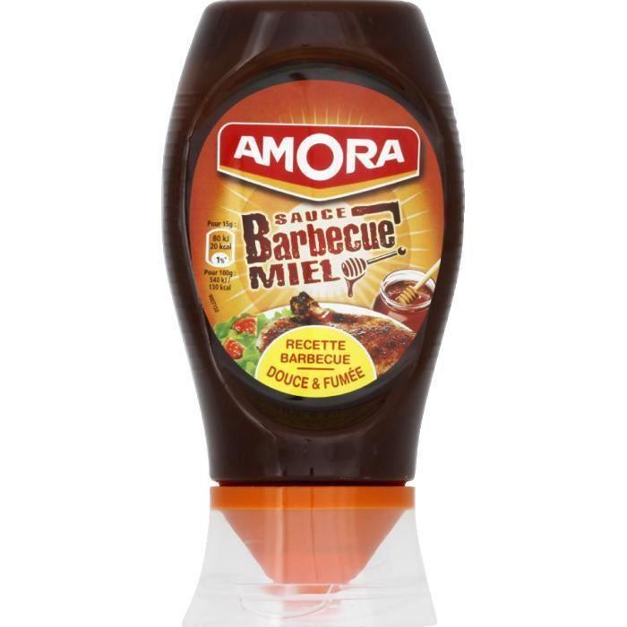 AMORA Sauce barbecue et miel - 282 g