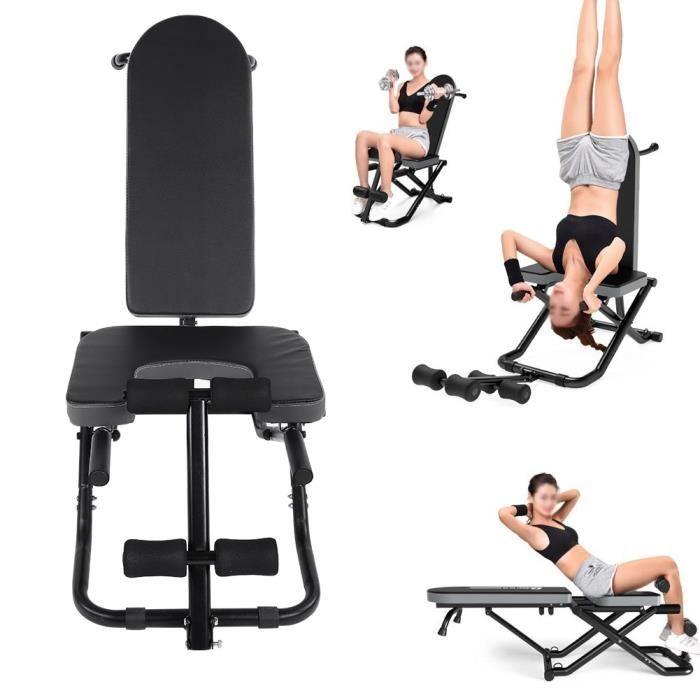 Banc de musculation Chaise multifonctionnelle table d'inversion yoga forme physique fitness à la maison se pliant résistant -YUH