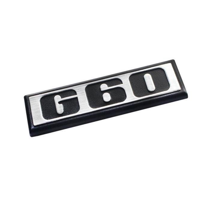Autocollant d'insigne de plaque d'argent emblème de voiture ABS de voiture iJDM ABS G60 pour VW Golf Polo Corrado MK2, etc.