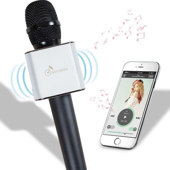 Bluetooth sans fil karaoké microphone portable haut-parleur Equipements karaoke