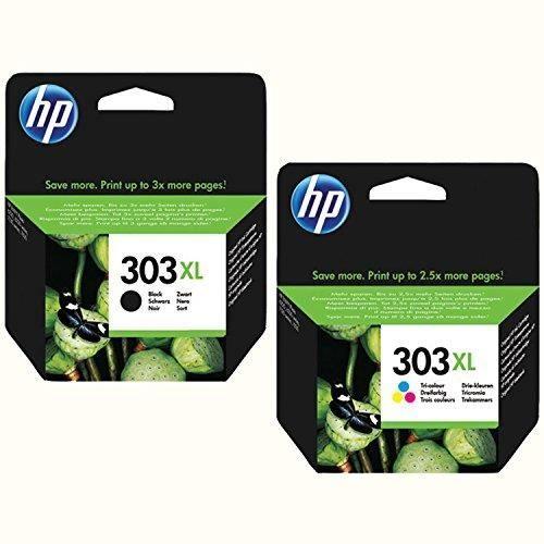 HP 303 x l Lot de cartouches d'origine Noir + Color Garnissage XL pour HP Envy photo 6230 7100 Series 7130 7134 7800 Series 7830 783