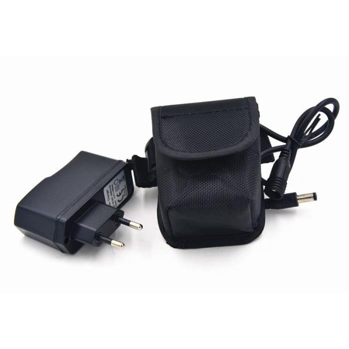 Vélo lumière 10800 mAh 18650 batterie Pack 8.4 V pour SolarStorm X2 X3 T6 lampes + chargeur - Modèle: Black - HJZXCZMA03169