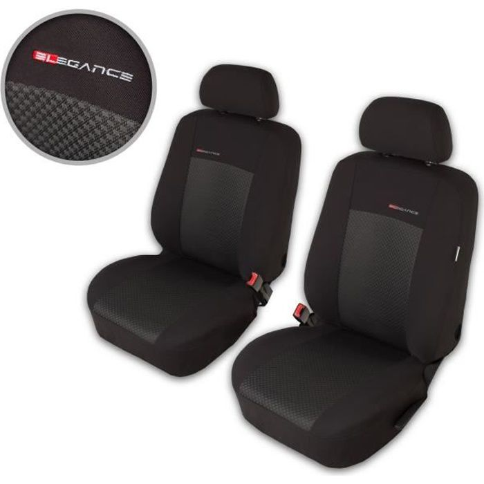 Housse De Siège Voiture Auto pour Volkswagen Polo II III IV V Elegance P3 Gris tissu de revetement/velours avec mousse sièges avant