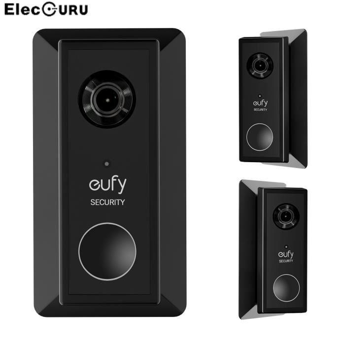 Accessoire Camescope,Plaque murale pour sonnette vidéo à batterie Eufy, panneau de sonnette élégant, support de réglage gauche et