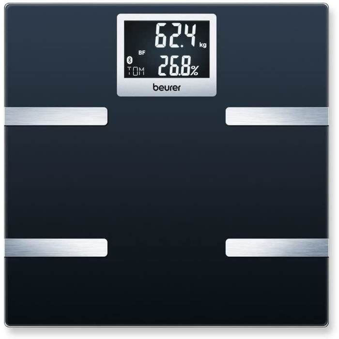 Pèse-personne Impédancemètre connecté Bluetooth BEURER BF 700 BT- Calcul l'IMC, le taux de muscle et la masse osseuse