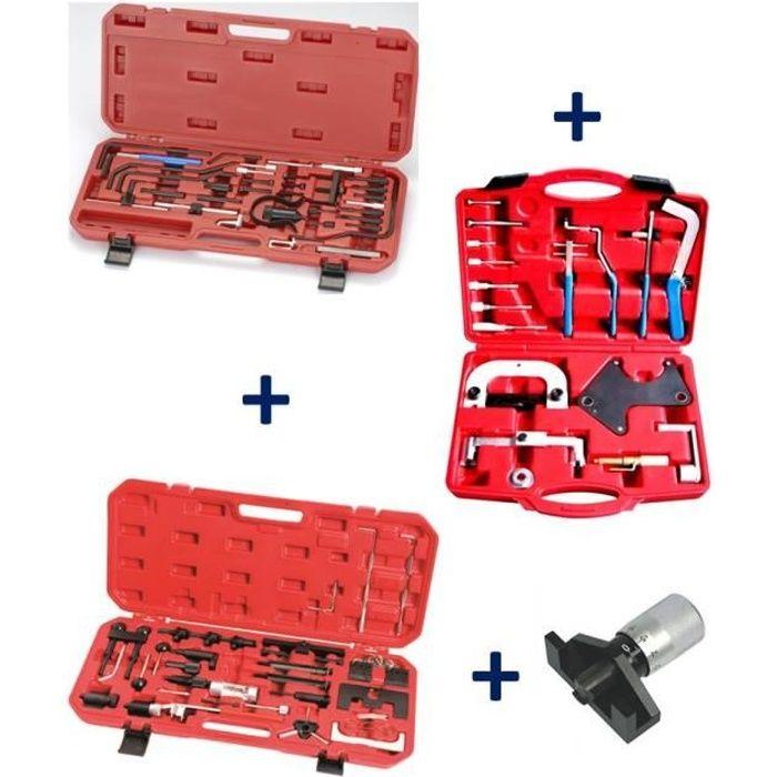 Coffrets calage Courroie Distribution PEUGEOT CITROEN + RENAULT + VW AUDI + Tensiomètre Jauge