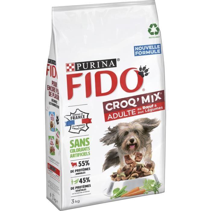 FIDO Crox'Mix Bœuf, Légumes - Pour chien - 3 kg