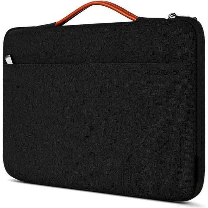 Sacoche de Protection et Transport (S-Noir-Orange) pour ordinateur Portable Apple MacBook Air 13.3-