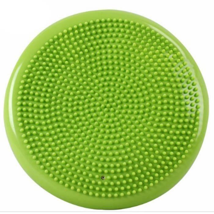 Tapis de balle de Massage de Yoga gonflable de disque d'équilibre de stabilité vert
