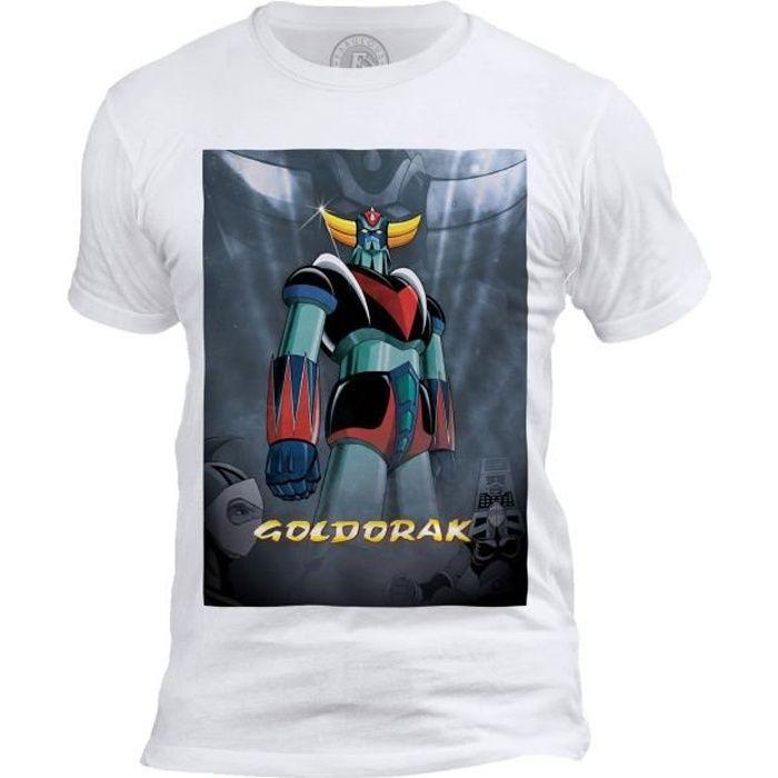 T-shirt Homme Col Rond Goldorak Couleur Hero Manga Robot Dessin anime