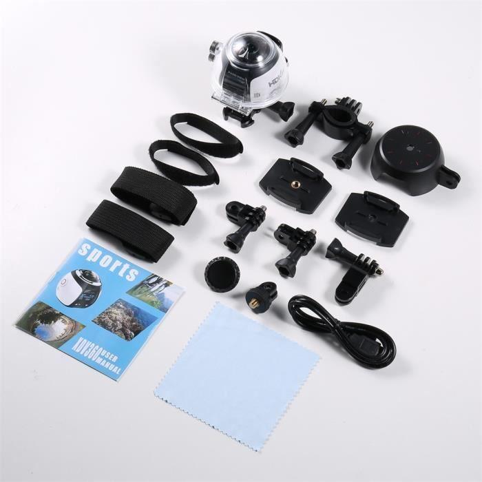 Appareil-photo de film de 360Degree Wifi 2448P 30FPS 16M pour le sport en verre virtuel d'action VR