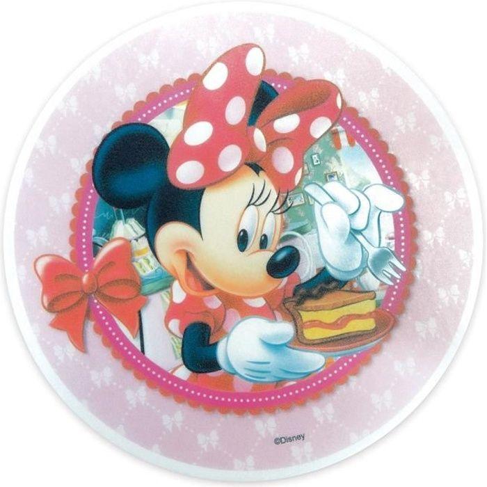 Disque Azyme Décoration Gateau Minnie 20 cm - Scrapcooking Multicolore - Assort.