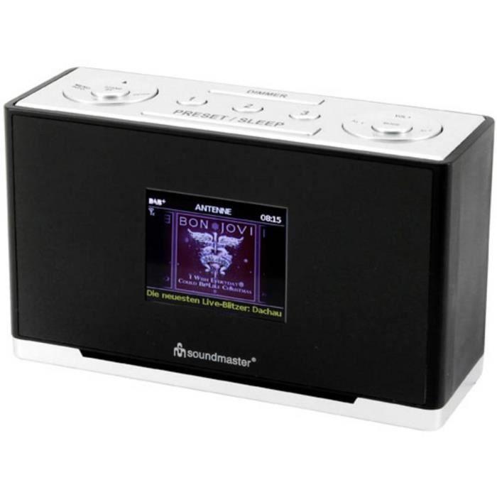 Radio de table soundmaster UR240SW DAB+, FM AUX, DAB+, FM noir