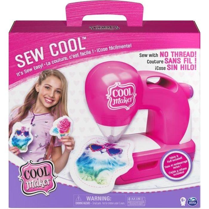 COOL MAKER – Machine à coudre Sew Cool - 6058340 - Loisirs créatifs pour enfants à partir de 6 ans - Jouet enfant