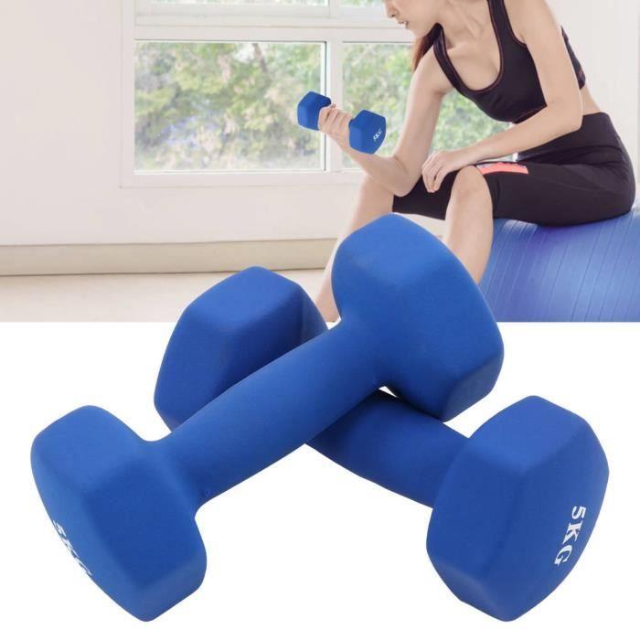 haltères de gymnastique à domicile Formation Anti-Slip Hex Hand Haltères (Bleu) PVC Vente Chaude