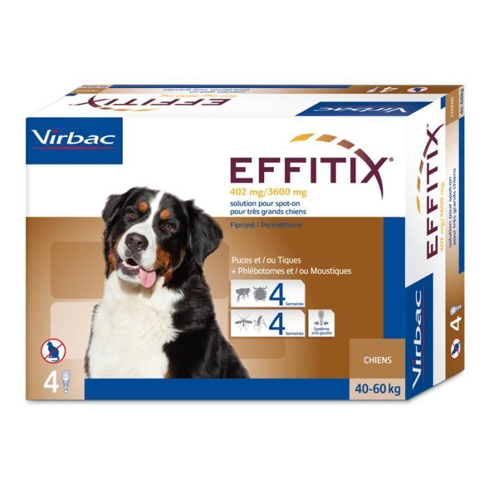 Virbac - Effitix très grand chien (40 à 60 kg) Unique