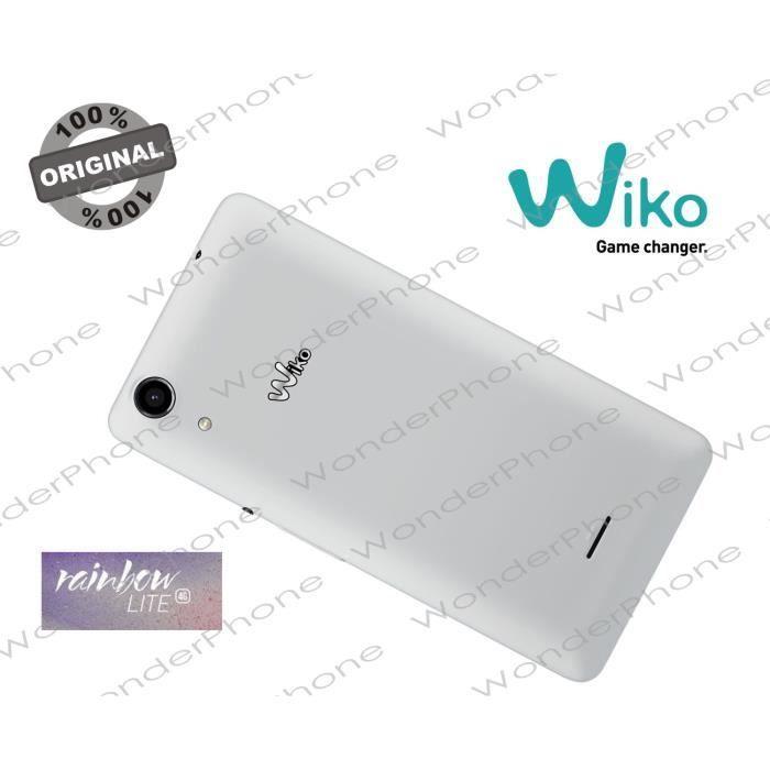 Cache Batterie Wiko Rainbow Lite 4G Blanc GARANTIE 100% Original