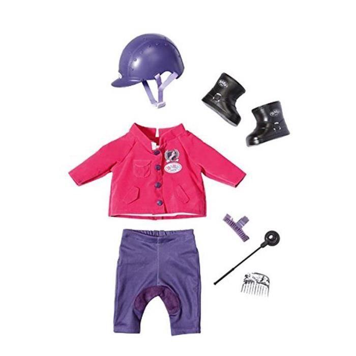 Zapf Creation 822340 Baby Born - Tenue d'Equitation - Vêtements pour Poupon 43 cm