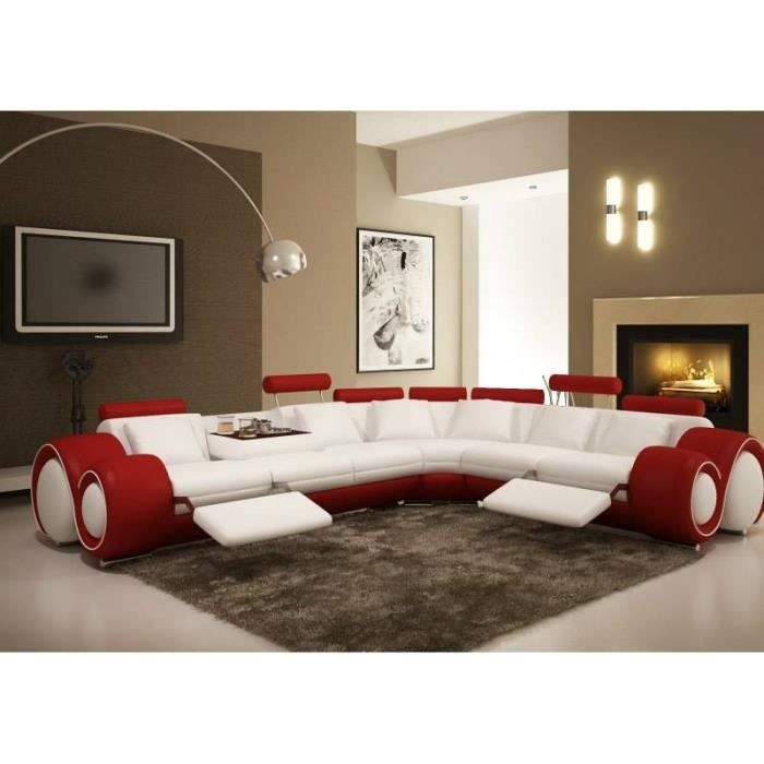 canape design blanc et rouge. Black Bedroom Furniture Sets. Home Design Ideas
