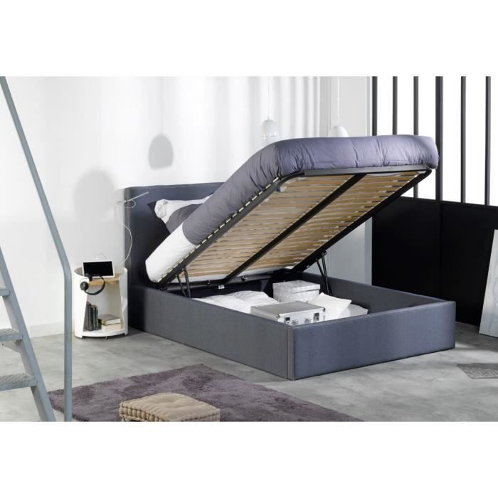 lit coffre en 140 x 200 achat vente lit coffre en 140. Black Bedroom Furniture Sets. Home Design Ideas