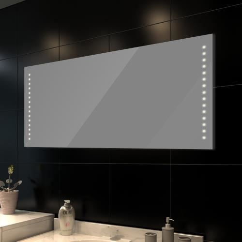 miroir de salle de bain avec eclairage led 140 achat. Black Bedroom Furniture Sets. Home Design Ideas