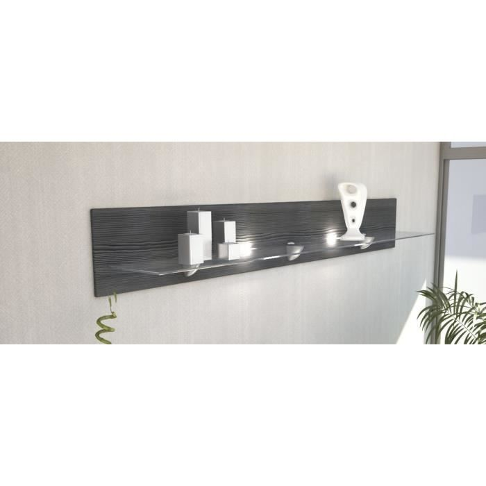 Tag Re Murale Anthracite 146cm Achat Vente Etag Re Murale Tag Re Murale Anthracite 1