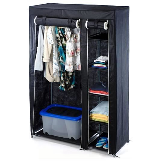 armoire help noir achat vente dressing penderie armoire help noir cdiscount. Black Bedroom Furniture Sets. Home Design Ideas