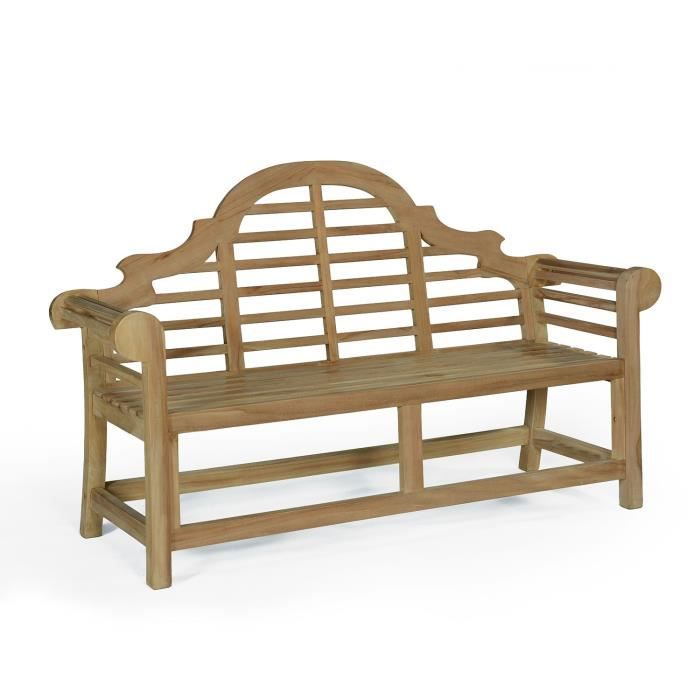 Banc en teck ecograde marlborough 167 cm achat vente for Banc jardin teck