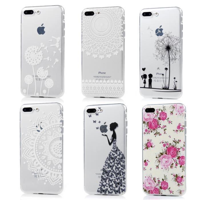 6 pcs coque iphone 7 plus silicone gel transparent