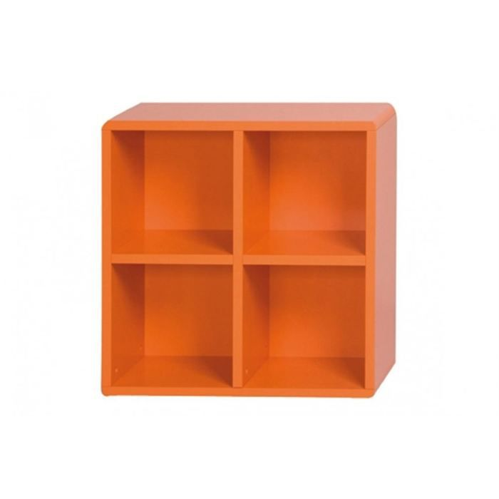 cube de rangement 4 cases orange id 39 clik achat vente petit meuble rangement cube de. Black Bedroom Furniture Sets. Home Design Ideas