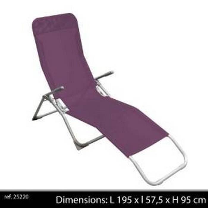chaise longue pliante
